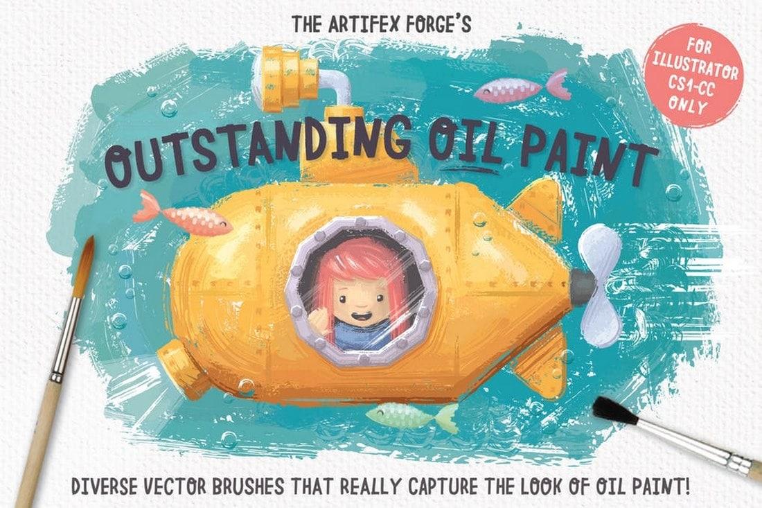 Outstanding Oil Paint Brushes for Illustrator