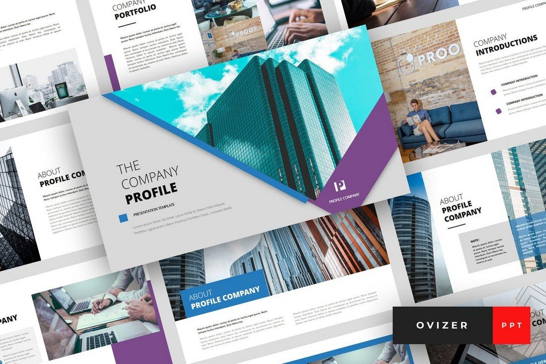 Ovizer-Company-Profile-PowerPoint-Template 20+ Best Company Profile Templates (Word + PowerPoint) design tips  Inspiration|company profile