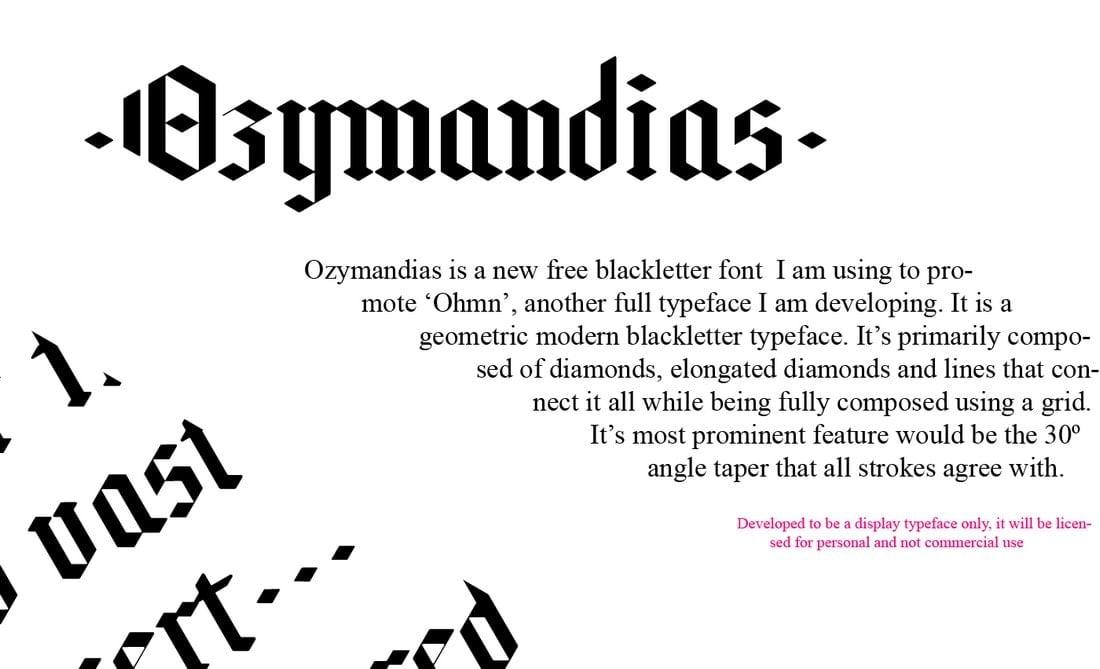 Ozymandias - Free Blackletter Typeface