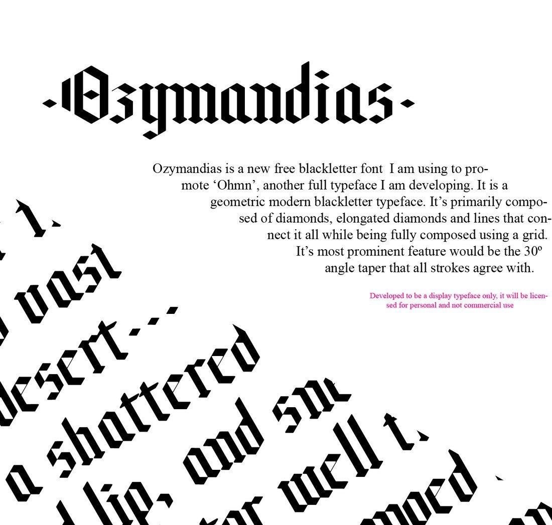 Ozymandias-Free-Typeface 35+ Best Blackletter Fonts design tips