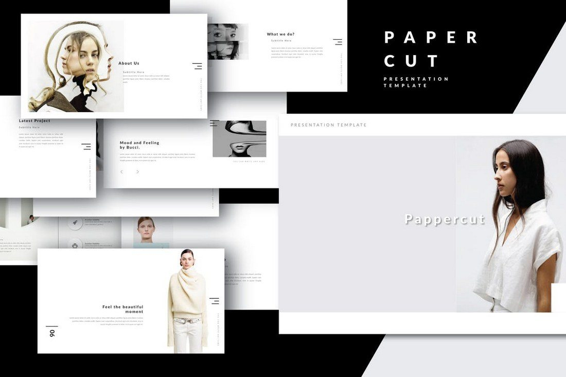 PAPERCUT-Keynote 30+ Best Minimal & Creative Keynote Templates design tips