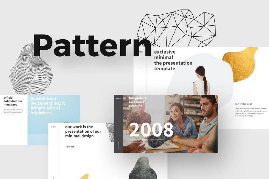 PATTERN-Modern-Powerpoint-Template 20+ Simple PowerPoint Templates (With Clutter-Free Design) design tips  Inspiration|powerpoint