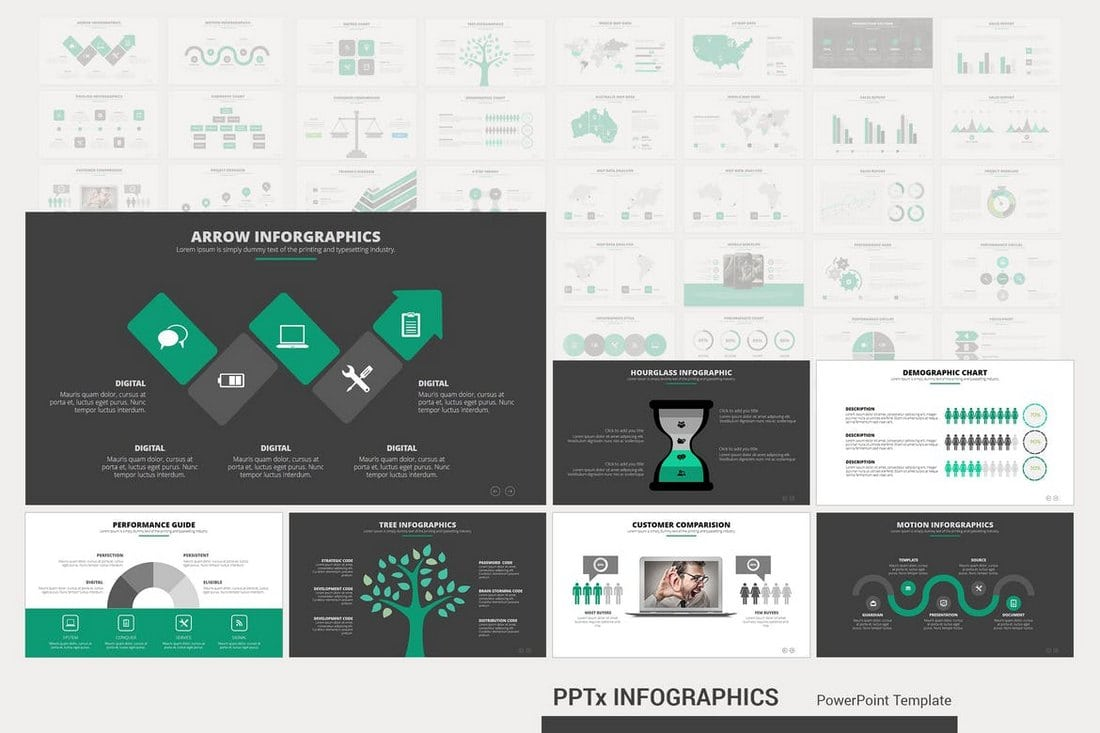 PPTx-Infographics 40+ Best Infographic Templates (Word, PowerPoint & Illustrator) design tips