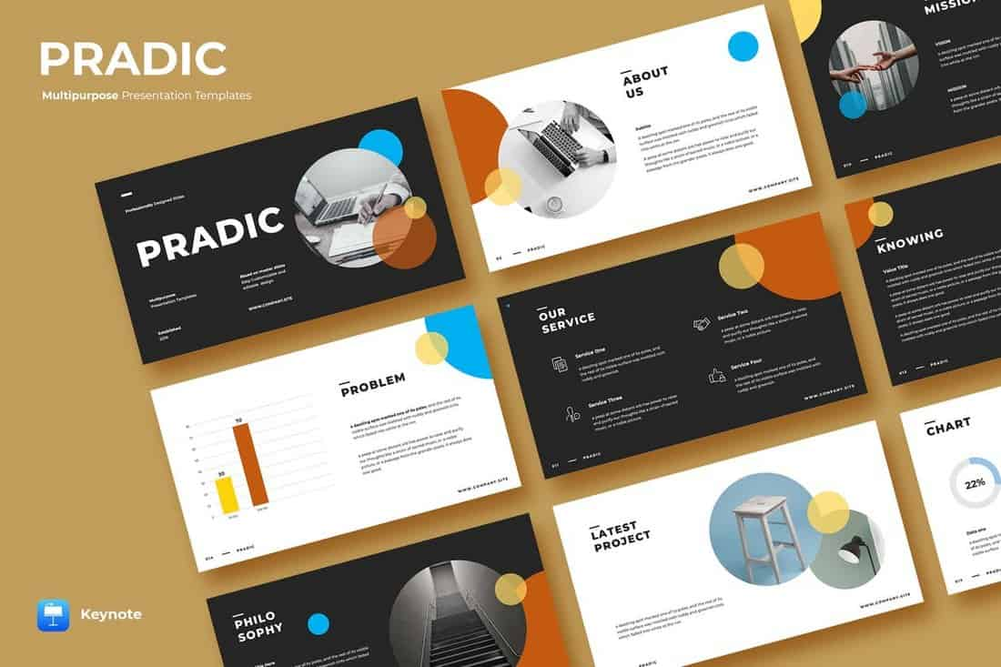 PRADIC - Creative Keynote Template