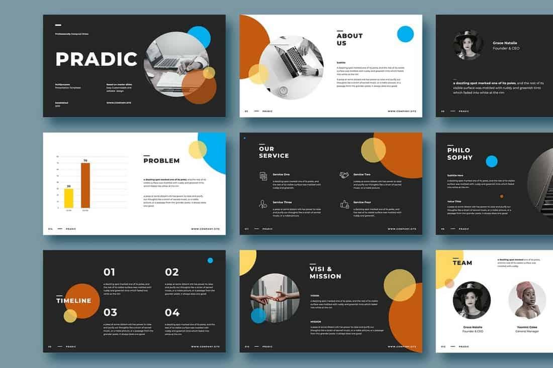 PRADIC - Creative Powerpoint Template