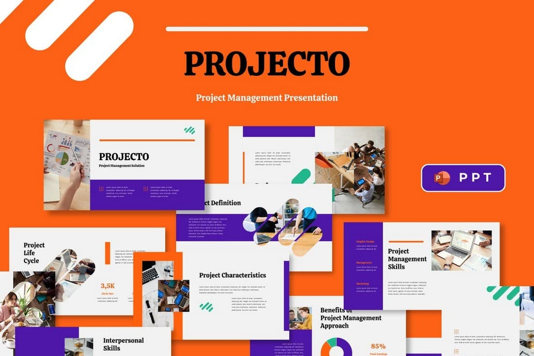 PROJECTO - Project Management Powerpoint Template
