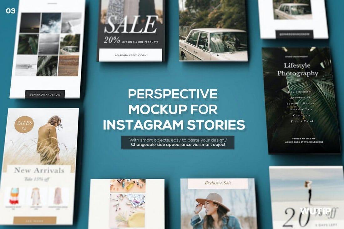 PSD Mockup for Instagram Story