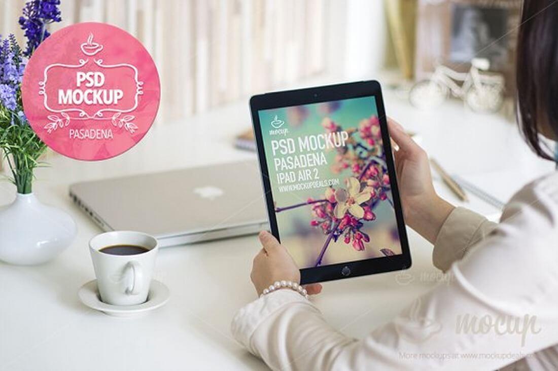 PSD-Mockup-iPad-Air-2-Pasadena 100+ iPad Mockups: PSDs, Photos & Vectors design tips