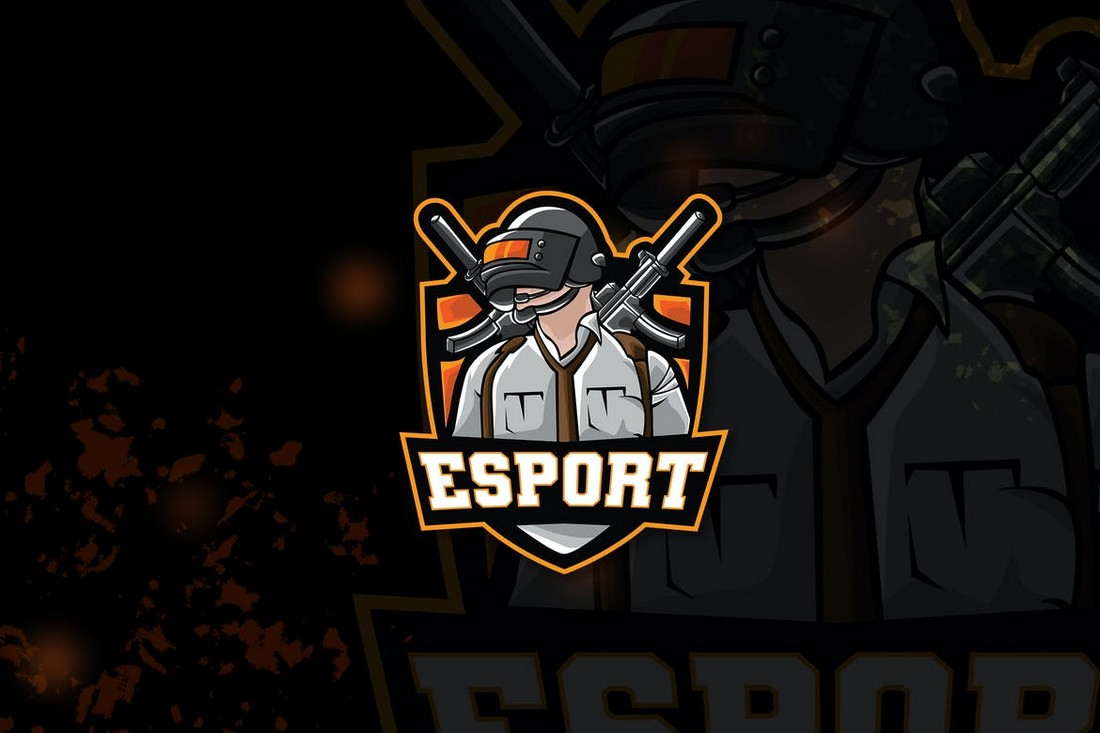 PUBG Gaming & Esports Logo Template