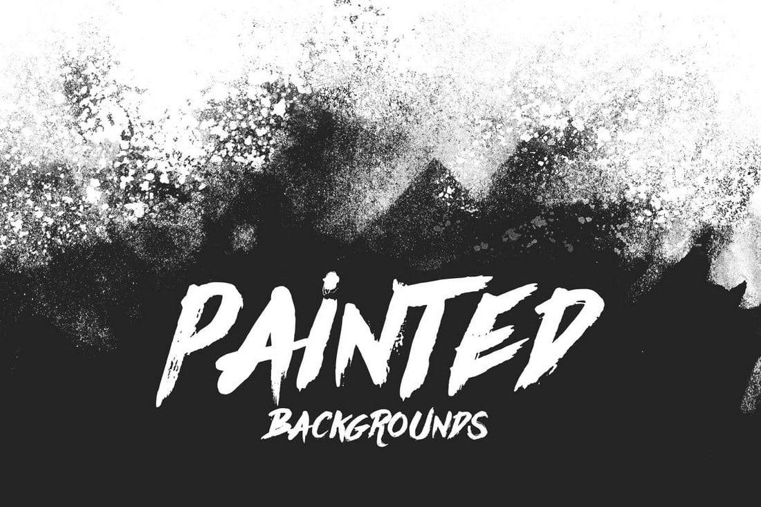 Painted-Backgrounds-1 20+ Black Texture Background Graphics design tips