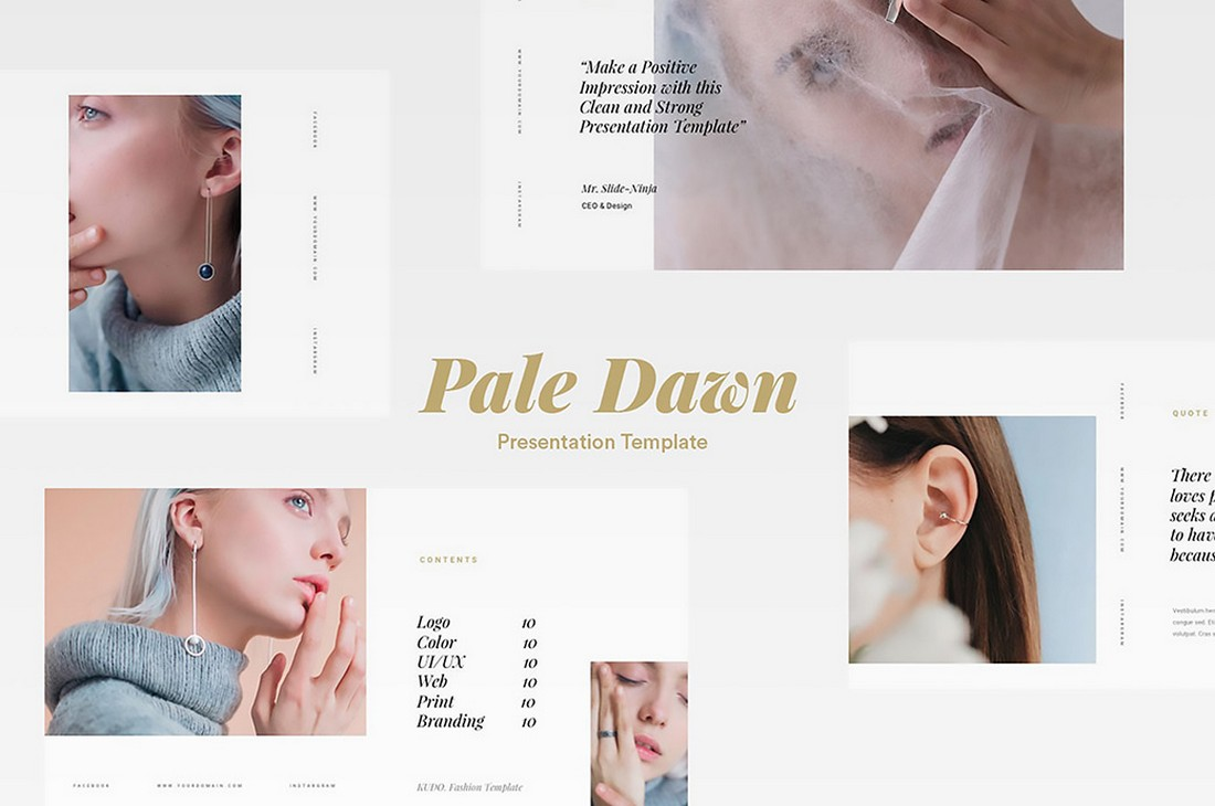 Pale Dawn - Free Modern Fashion PowerPoint Template