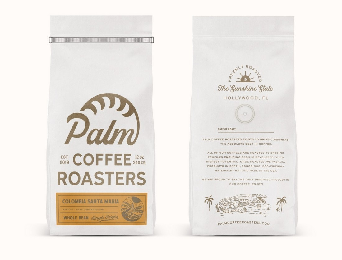 Palm Coffee Roasters label