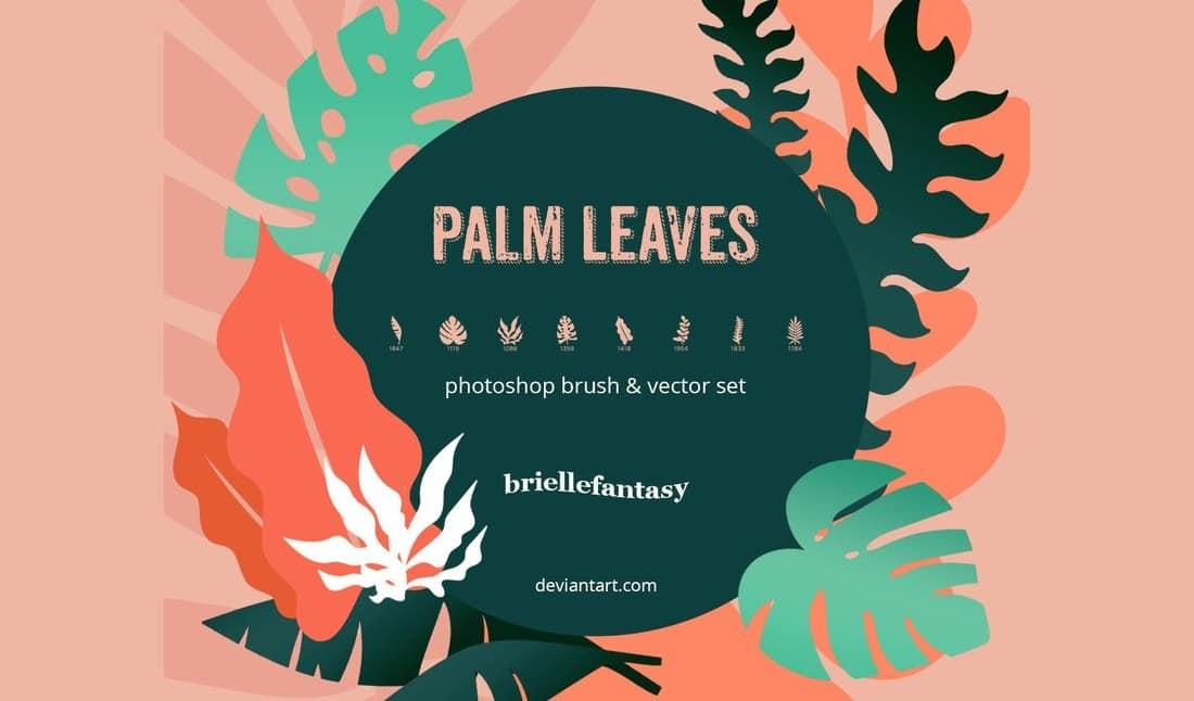 Palm Leaves Free Photoshop Brushes