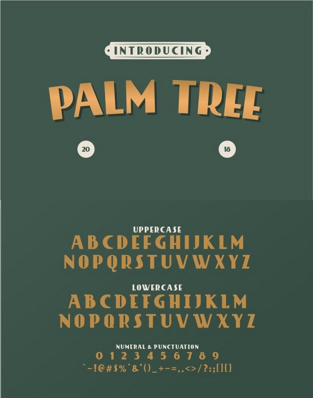 Palm-Tree-Retro-Font 40+ Best Number Fonts for Displaying Numbers design tips
