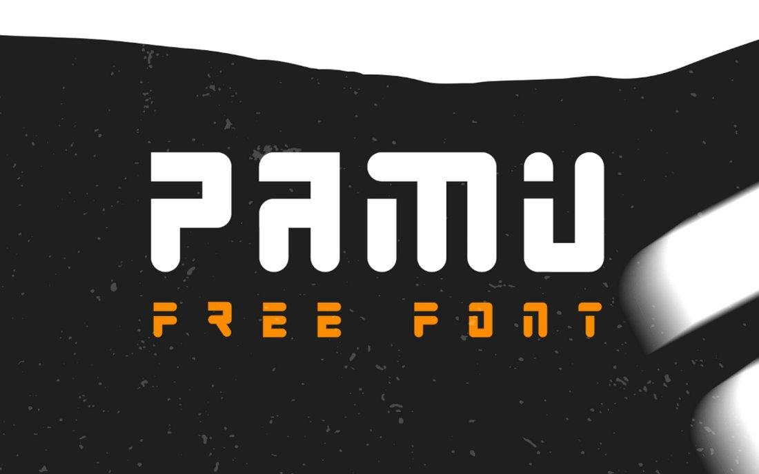 Pamu - Free Creative Monogram Font