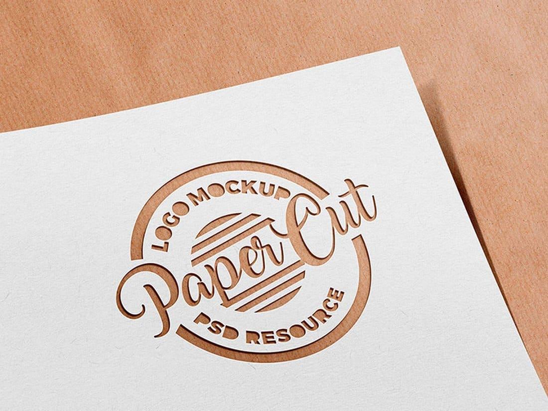 Paper-Cutout-Logo-Mockup 100+ Logo Mockup Templates (PSD & Vector) design tips