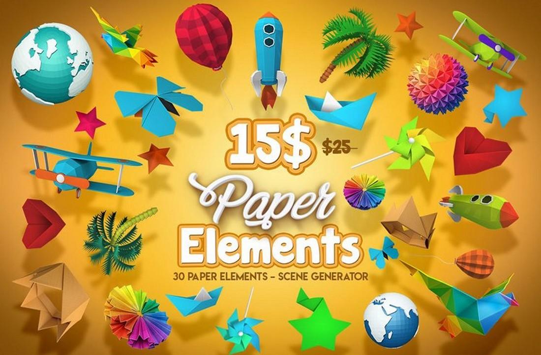 Paper Elements - Free Scene Generator