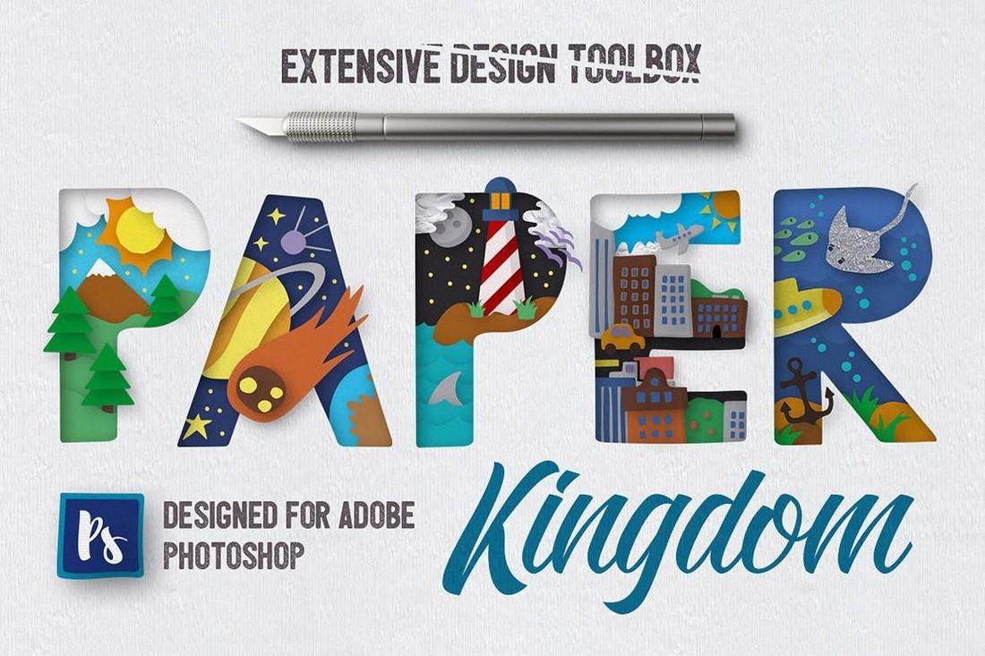 Paper-Kingdom-Photoshop-Layer-Styles 20+ Best Photoshop Layer Styles in 2021 (Free & Premium) design tips