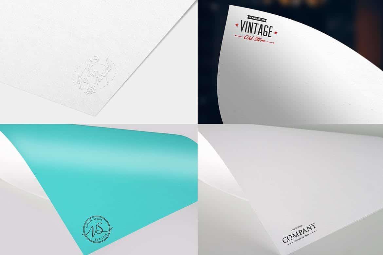 Paper Logo Mock Up Pack