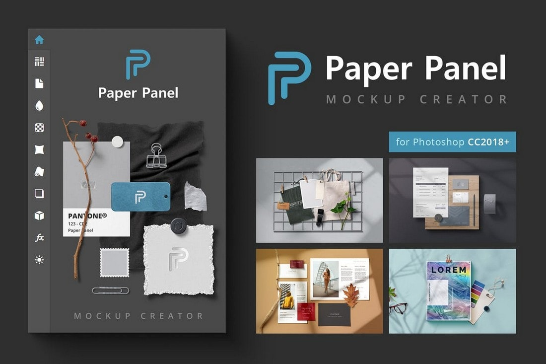 Paper Panel - Mockup Creator Photoshop Extension