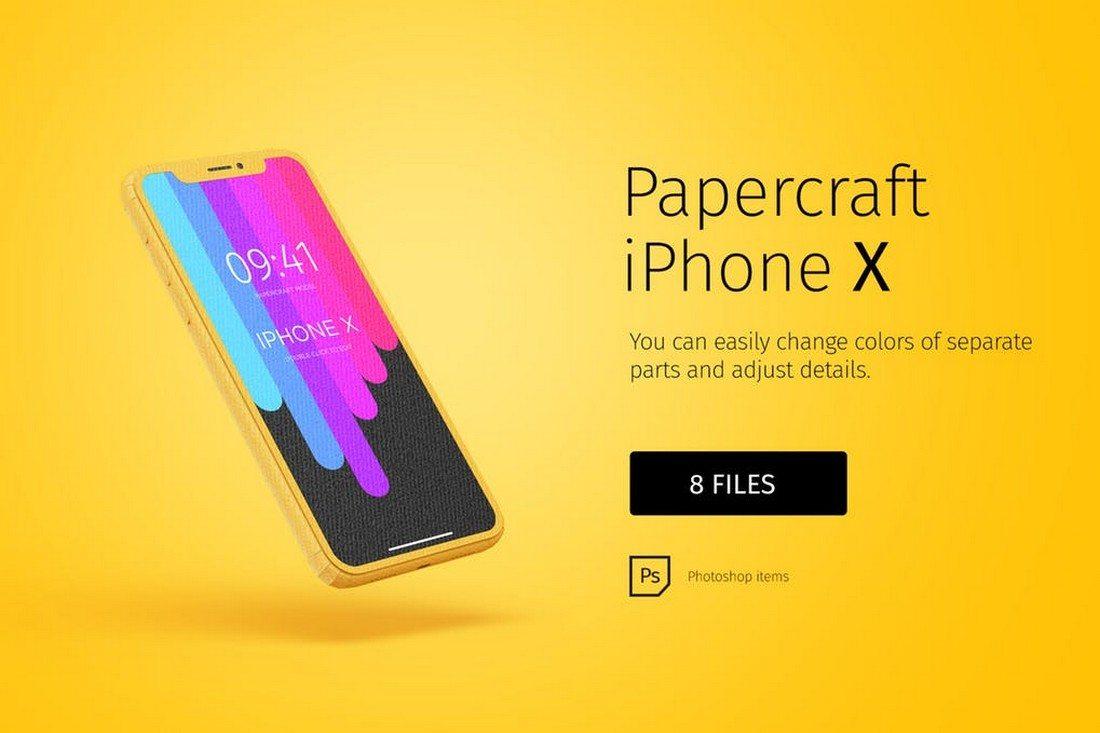Paper-model-iPhone-X 30+ Best iPhone X Mockups (PSD, AI & Sketch) design tips