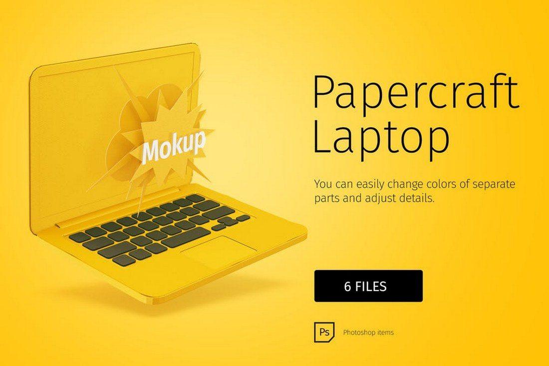 Papercraft-Laptop-Mockup 100+ MacBook Mockup Templates (PSD & Vector) design tips