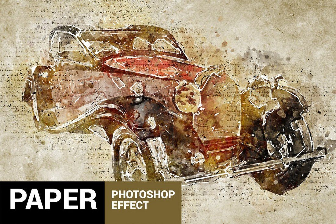 Papyrum-Vintage-Grunge-Photoshop-Action 20+ Best Watercolor Photoshop Actions design tips