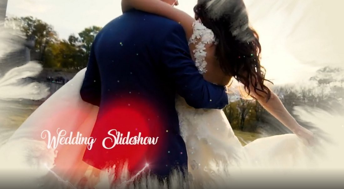 Particle Heart - Free Wedding Premiere Pro Template