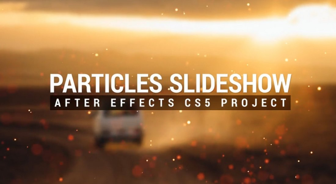 Particles Slideshow Template for After Effects