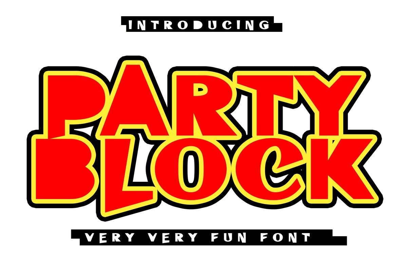 Party Block - Fun Block Font