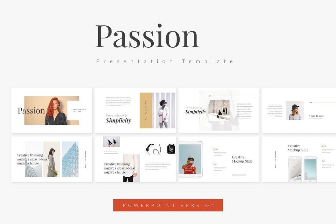 Passion - Fashion Powerpoint Template