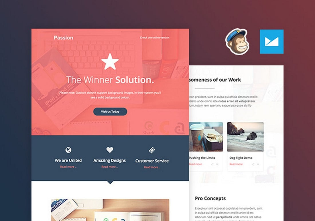 Passion-Free-Creative-Email-Template 40+ Modern Responsive Email Templates 2021 design tips