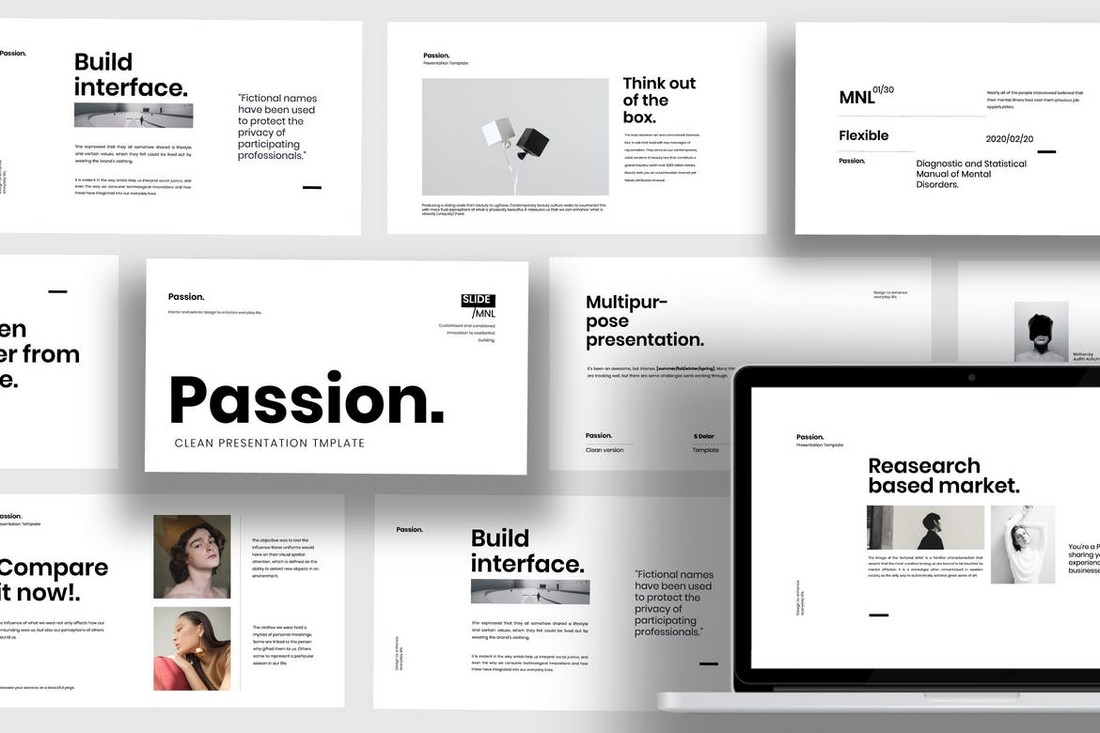 Passion - Minimal Business PowerPoint Template