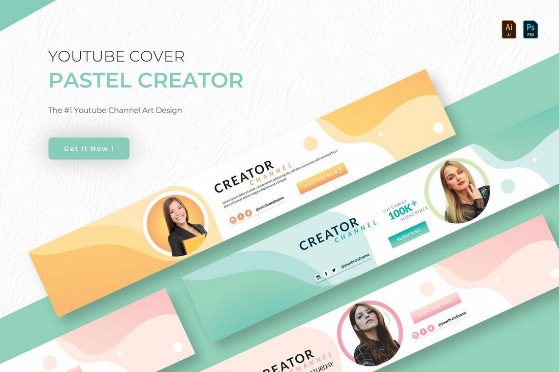 Pastel Creator - Youtube Cover Art Template