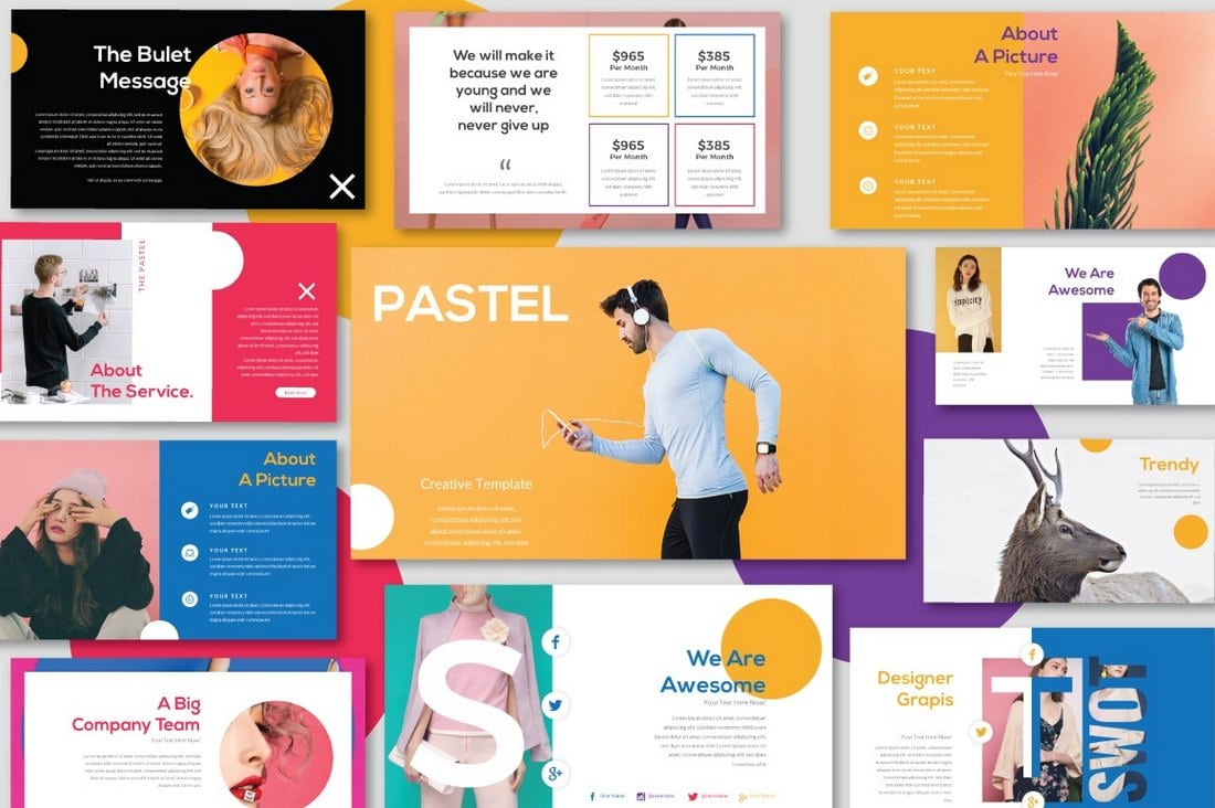 Pastel-Free-Modern-PowerPoint-Template 30+ Animated PowerPoint Templates (Free + Premium) design tips