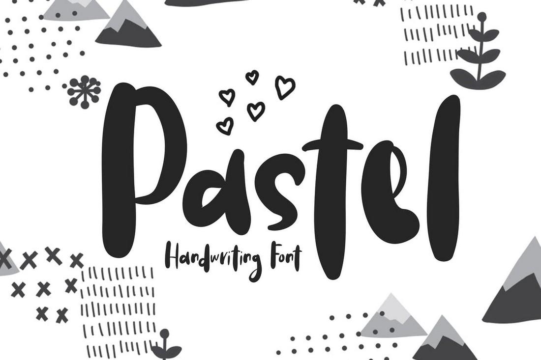 Pastel - Handwritten Procreate font