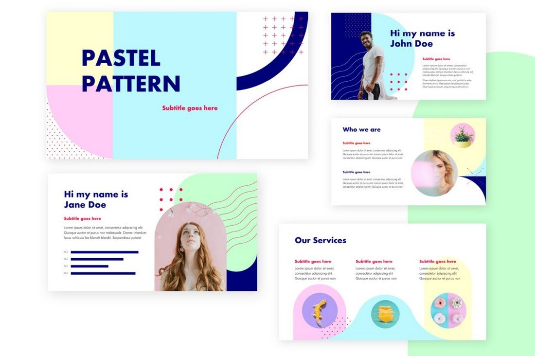 Pastel Pattern - Free Keynote Template