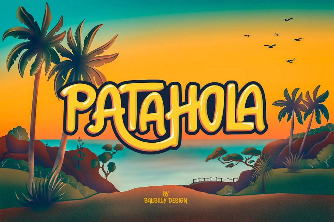 Patahola-Playful-Hand-Drawn-Poster-Font 60+ Best Big, Poster Fonts of 2021 design tips