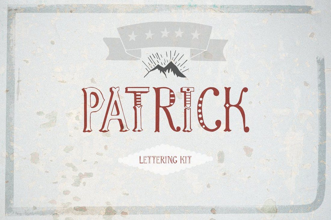 Patrick-font-Lettering-Kit 25+ Best Monogram Fonts design tips