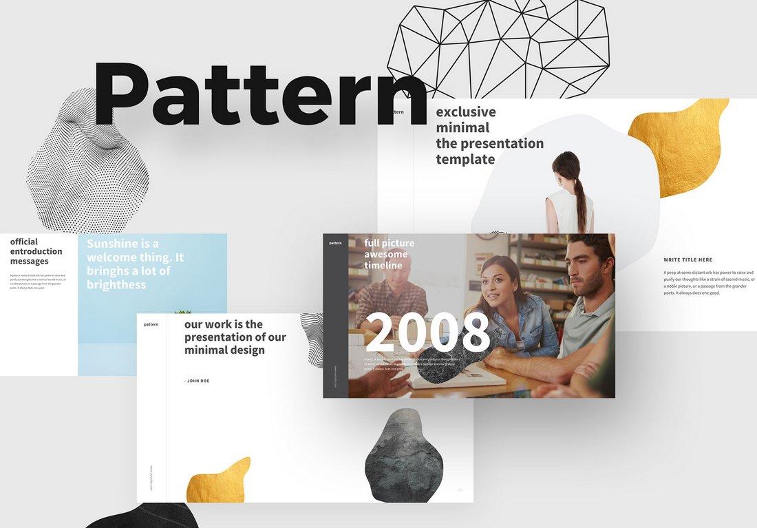 Pattern-Free-Modern-Keynote-Template 50+ Best Keynote Templates of 2020 design tips  Inspiration|keynote|powerpoint|presentation