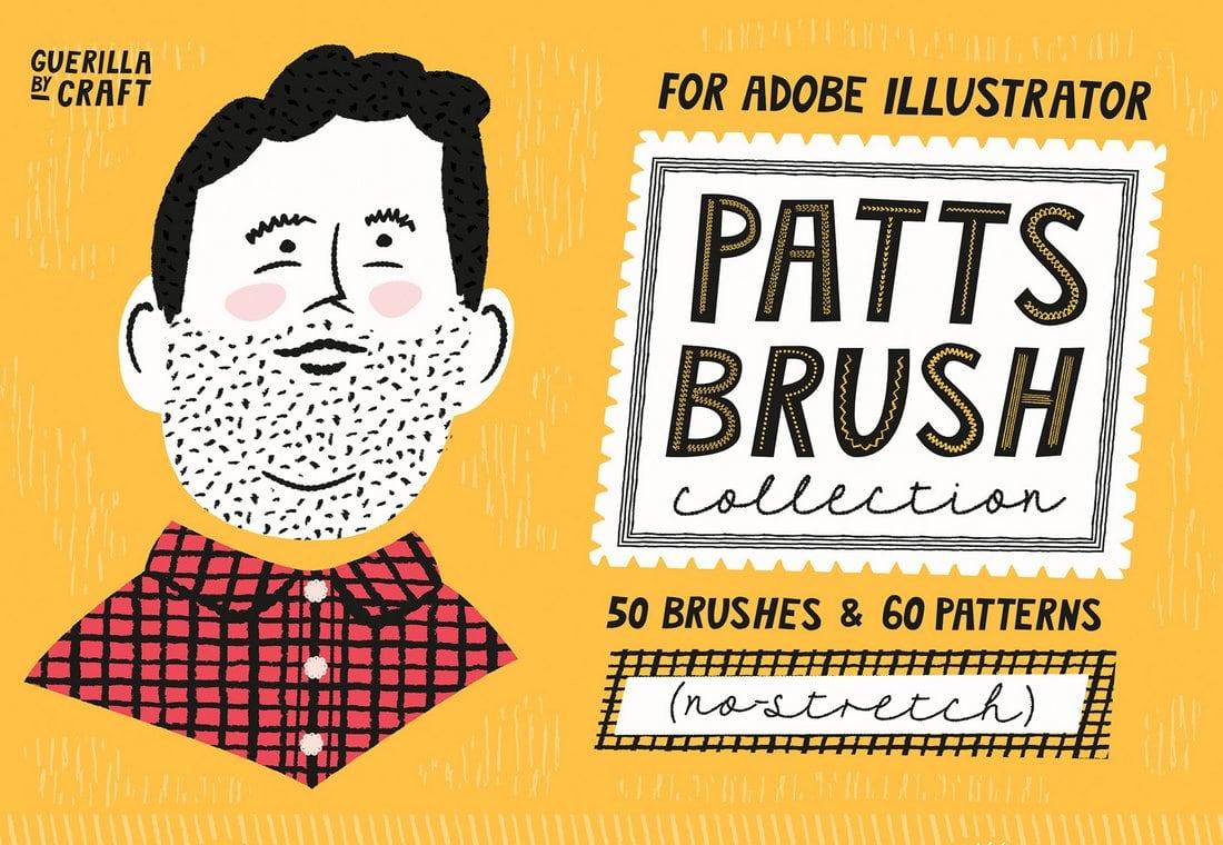 Patts-Brush-Collection-Free-Sample 25+ Best Free Adobe Illustrator Brushes 2021 design tips