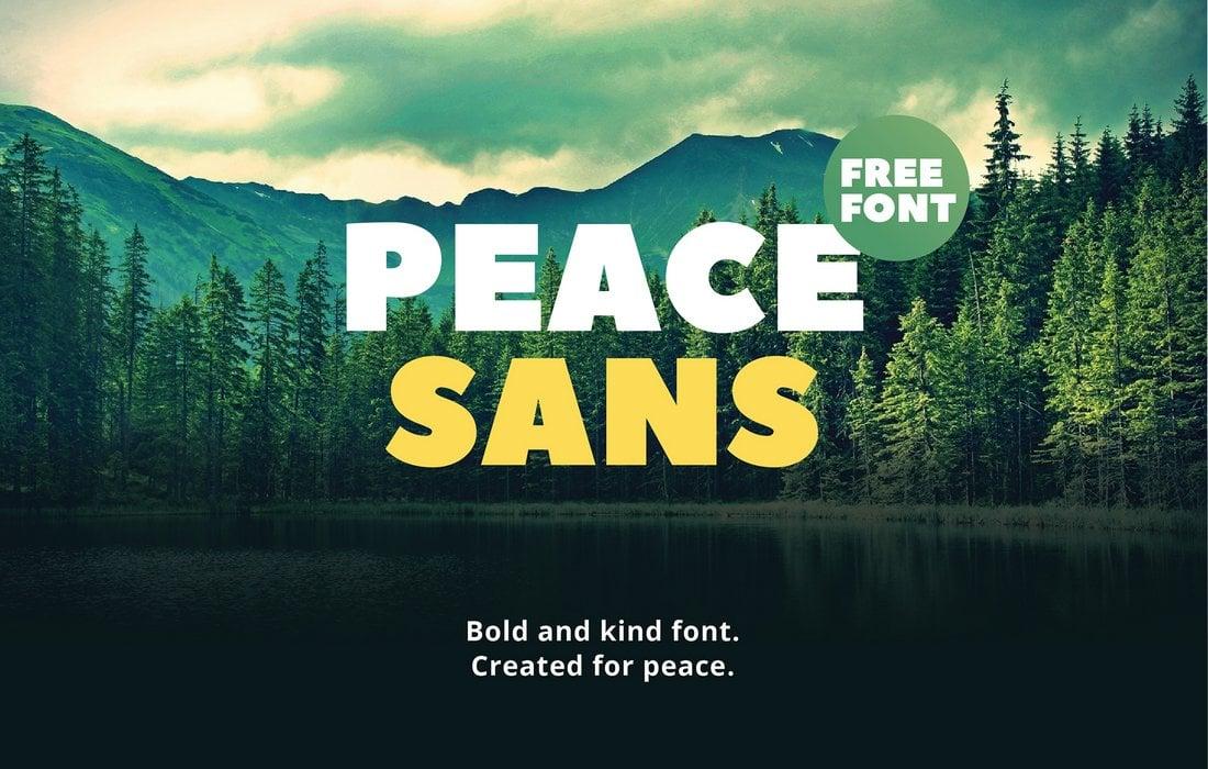 Peace Sans - Free Display Font