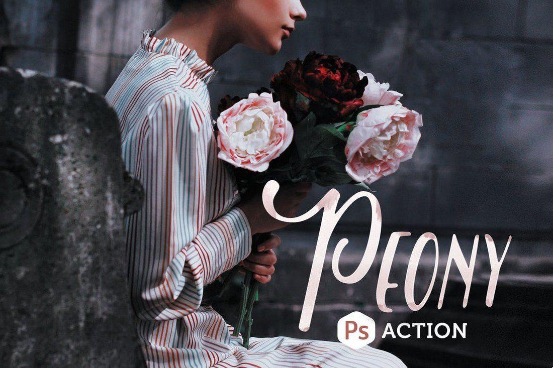 Peony-Photoshop-Action-1 20+ Best Portrait Photoshop Actions design tips