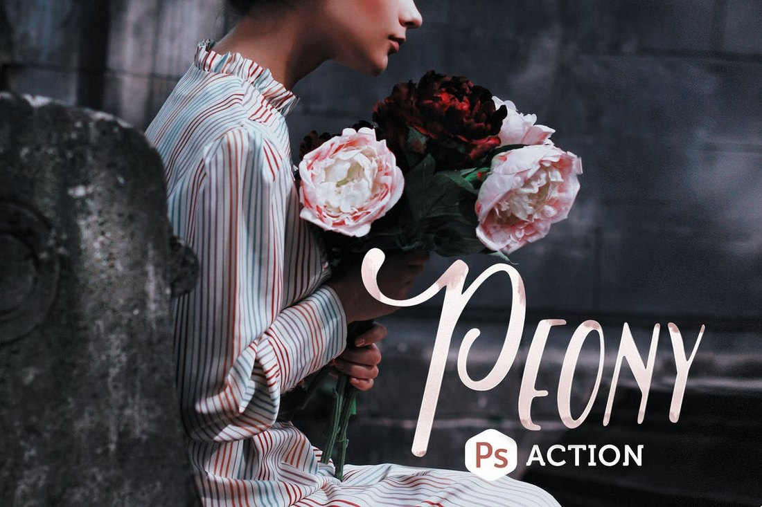 Pivoine Photoshop Action