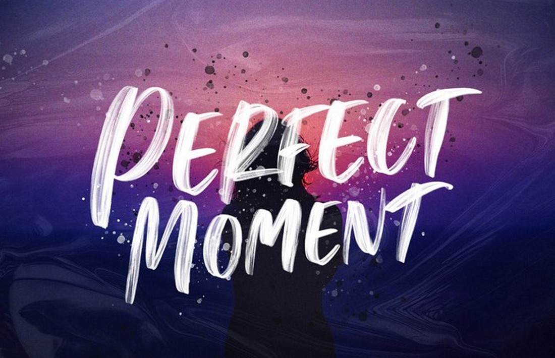 Perfect-Moment-Free-Handwritten-Brush-Font 25+ Free Brush, Script & Hand Lettering Fonts design tips