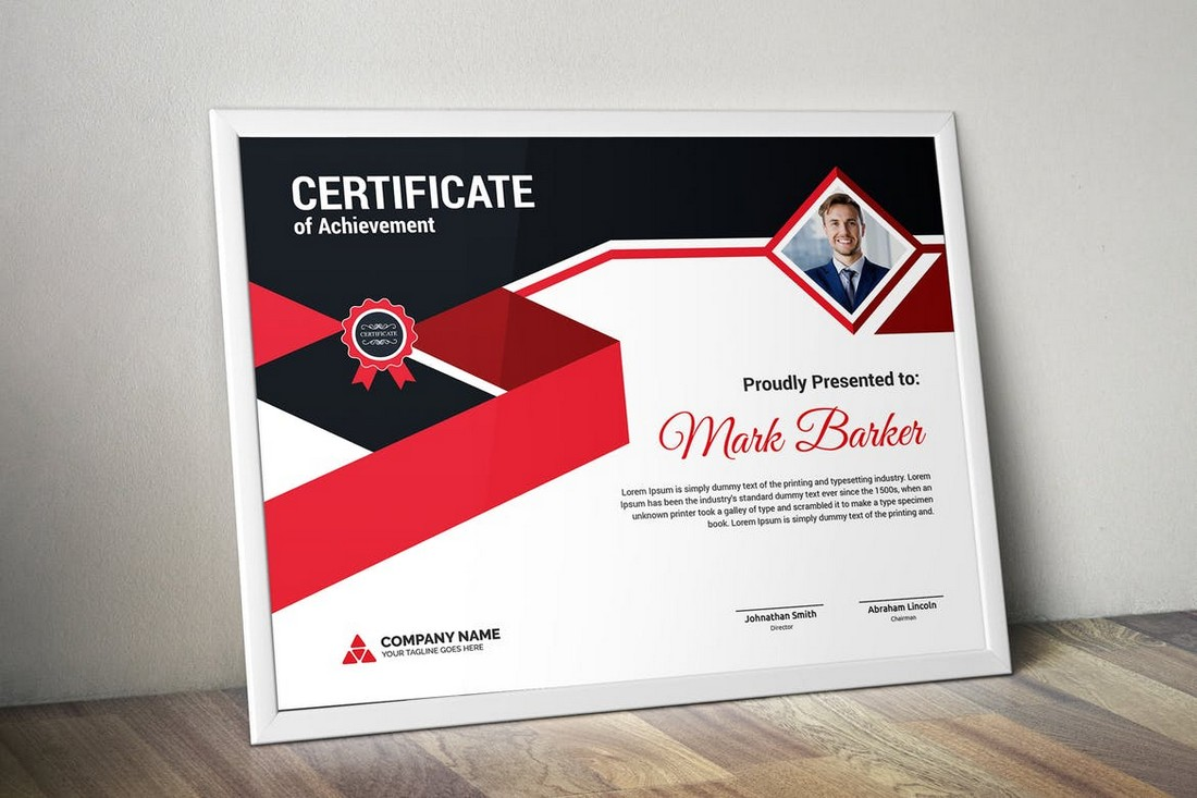 Personalized Training Certificate Template
