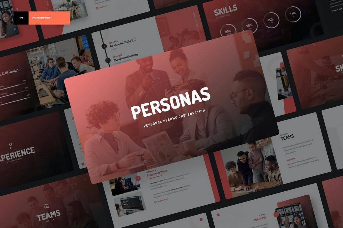 Personas - Personal Portfolio PowerPoint Template