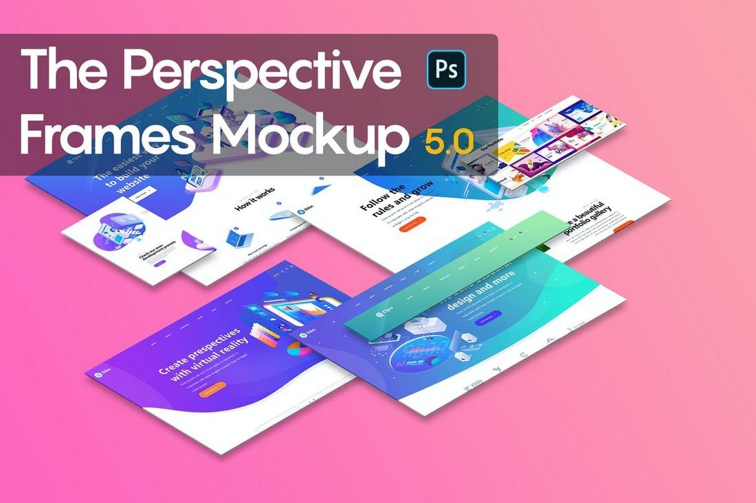 Perspective Frames Website Mockup Templates