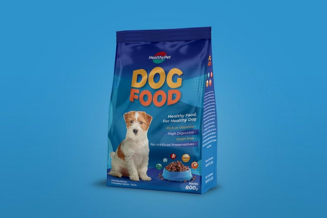 Pet Food Packaging Design Template