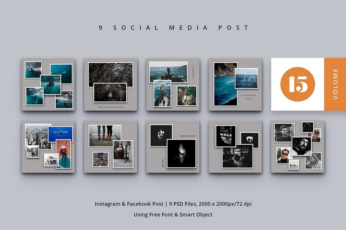 Photo Collage Social Media Post Templates